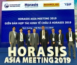 Delegates pose for photos during a break at the opening plenary session held yesterday as part of the 2019 Asia Horasis Meeting that officially begins today. VNS Photo Bồ Xuân Hiệp