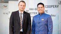Georg Schmidt, German Ambassador to Thailand (Left), Varawut Silpa-archa, the Thai Minister of Natural Resources and Environment (Right)