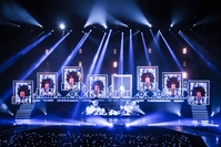 Super Junior comes on stage in style.