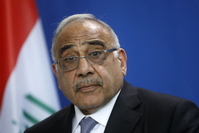 File Photo:Iraqi Prime Minister Adil Abdul-Mahdi Visits Berlin  BERLIN, GERMANY - APRIL 30: Iraqi Prime Minister Adil Abdul-Mahdi addresses the media during a press conference at the Chancellery on April 30, 2019 in Berlin, Germany. This is Andul-Mahdi's first official visit to Germany since he became prime minister in 2018. (Photo by Michele Tantussi/Getty Images)