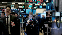 File Photo:U.S. Stocks Tumble As China Trade Talks Stall  NEW YORK, NEW YORK - NOVEMBER 20: Traders work on the floor of the New York Stock Exchange (NYSE) on November 20, 2019 in New York City. As trade talks with China continue to lack resolution, frustrating investors, the Dow Jones Industrial Average ended the day down over 100 points. (Photo by Spencer Platt/Getty Images)