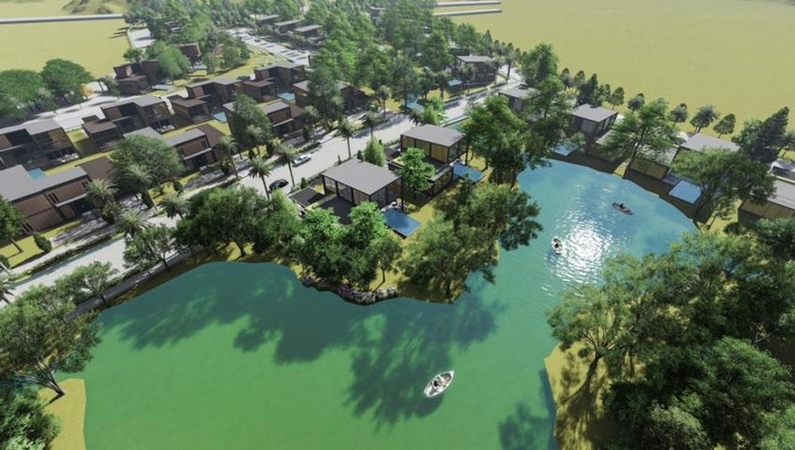 Local and French joint-venture Forest Harmony has broken ground on its $18 million 'second-home' Luxury Holiday Villas project in Kampot province, comprising 90 villa units on an 18ha parcel near Kampot town. Forest Harmony via facebook