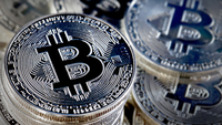 Bitcoin Virtual Currency : Illustration  PARIS, FRANCE - JUNE 25: In this photo illustration, a visual representation of the digital Cryptocurrency, Bitcoin is displayed on June 25, 2019 in Paris, France. Bitcoin surpassed the 11,000 dollar mark Monday, Facebook's arrival on the cryptocurrency market with Libra has boosted global interest around the various currencies in circulation. Bitcoin has reached its highest level since March 5, 2018. (Photo by Chesnot/Getty Images)