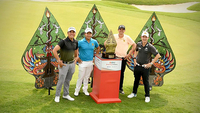 Rory Hie of Indonesia, Poom Saksansin of Thailand, John Catlin of the United States and Jazz Janewattananond of Thailand.