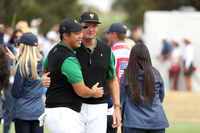 Byeong Hun An with captain Ernie Els
