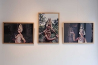 Photographs taken by Arjay Stevens show Apsara dancers posing with elaborate hand gestures. Hong Menea