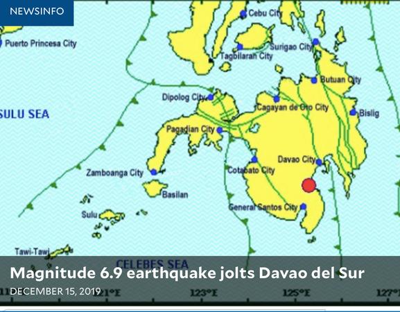 A powerful 6.9 earthquake rocked Padada, Davao del Sur on Sunday.