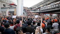 Thanathorn and his large crowd of supporters held a brief protest against the latest EC move on Saturday in downtown Bangkok and they vowed to intensify their fight against alleged dictatorship on streets next year.