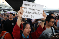 Many who had joined Saturday rally posted on their social media platforms that they did not like Thanathorn but could not tolerate the double standard practice of government institutions, signalling that many more may participate in political protests next year.