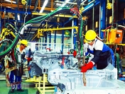 An assembly line at Hyundai Thanh Cong Automobile Factory in northern Ninh Binh Province. Photo: VNA/VNS/ANN