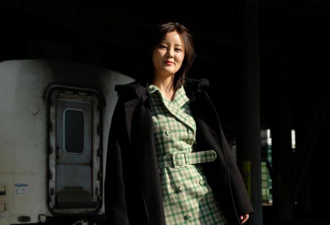 Na Min-hee, 28, at Cheongnyangni Station in Seoul, South Korea.  CREDIT: Washington Post photo by Min Joo Kim