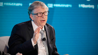 Bill Gates, co-chair of the Bill and Melinda Gates Foundation, speaks during the Bloomberg New Economy Forum in Beijing on Nov. 21, 2019. MUST CREDIT: Bloomberg photo by Takaaki Iwabu.