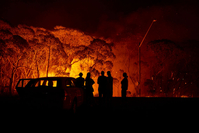 As authorities feared, Australia saw a dramatic escalation of its wildfire crisis on Friday night and Saturday, with the hardest-hit state this time being New South Wales. It will take another day for fire a to ease as temperatures drop but winds remain high.