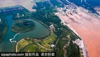 The Xiaolangdi Dam on the Yellow River is seen in this file photo taken on July 5, 2018. [Photo/sipaphoto.com]