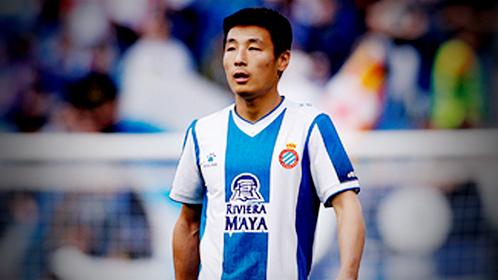 Espanyol's Wu Lei is seen at the RCDE Stadium in Barcelona, Spain, May 4, 2019. [Photo/Agencies]