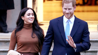 The Duke And Duchess Of Sussex Visit Canada House  LONDON, ENGLAND - JANUARY 07: Prince Harry, Duke of Sussex and Meghan, Duchess of Sussex depart Canada House on January 07, 2020 in London, England. (Photo by Neil Mockford/GC Images)