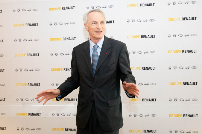 Jean-Dominique Senard, chairman of Renault, in Paris on Oct. 11, 2019. MUST CREDIT: Bloomberg photo by Christophe Morin.