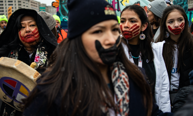 Participants gather at Freedom Plaza for a rally before the Women's March. Along with equality, the event focused on environmental protection, international conflict and transgender rights. MUST CREDIT: Washington Post photo by Salwan Georges
