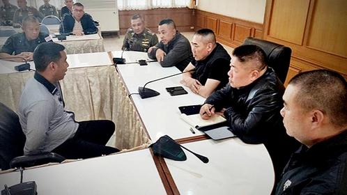 Prasittichai Khaokaew interrogated by the police