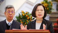 President Tsai Ing-wen speaks at a press conference on Jan. 22, 2020. (CNA)