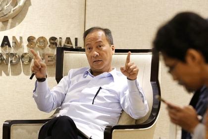 Industry Minister Agus Gumiwang Kartasasmita (The Jakarta Post/Jerry Adiguna)