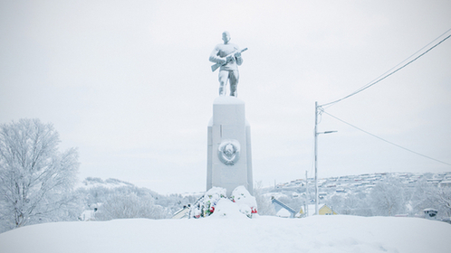In Kirkenes is a Norwegian monument honoring the soldiers of the Soviet army who liberated the town from Nazi German occupation in 1944. MUST CREDIT: Photo for The Washington Post by Ksenia Ivanova