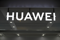 The Huawei logo at the IFA consumer electronics show in Berlin on Sept. 5, 2019. MUST CREDIT: Bloomberg photo by Krisztian Bocsi.
