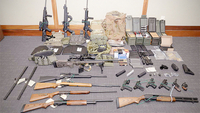 Federal investigators say Christopher Hasson had a cache of guns stockpiled to launch a terrorist attack. MUST CREDIT: U.S. Attorney's Office in Maryland handout photo
