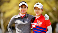 Sisters Yu Sang Hou and Yu Chiang Hou of Chinese Taipei