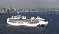 The Diamond Princess cruise ship is seen from a Yomiuri Shimbun helicopter on Feb. 4, 2020 off Yokohama Port In Yokohama, Japan. MUST CREDIT: Japan News-Yomiuri