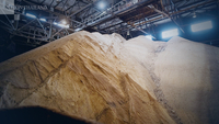 Raw sugar sits piled in a storage building at the Rogers Sugar Inc. facility in Vancouver, British Columbia, on Jan. 6, 2020. MUST CREDIT: Bloomberg photo by James MacDonald.