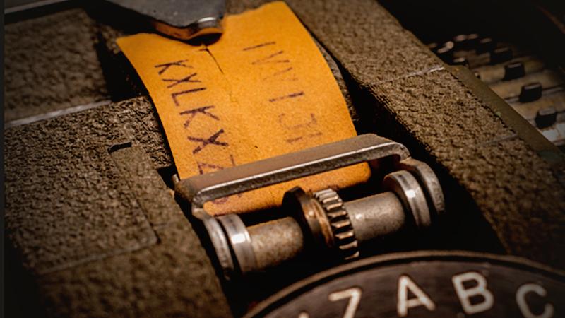 The Hagelin CX52 encryption machine, in Washington, D.C. MUST CREDIT: Washington Post photo by Bill O'Leary Photo by: Bill O'Leary — The Washington Post