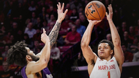 Maryland Terrapins guard Anthony Cowan Jr. scored 19 points against the Northwestern Wildcats on Tuesday, Feb. 18, 2020. MUST CREDIT: Washington Post photo by Toni L. Sandys