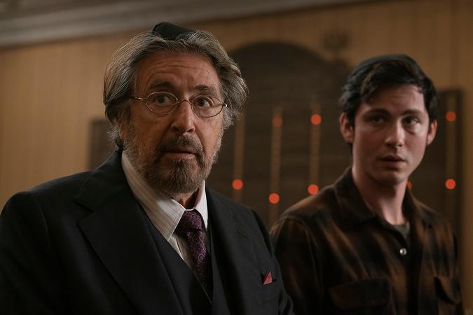 Al Pacino, left, as Mever Offerman and Logan Lerman as Jonah Heidelbaum in
