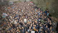 File Photo of people protesting in Tehran against the U.S. drone strike last month/Getty Images