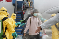 File Photo of Indonesia's virus fight/ the Jakarta Post, ANN