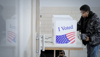 Claudia Craft votes at a polling place in Columbia, S.C., on Saturday. MUST CREDIT: Washington Post photo by Matt McClain