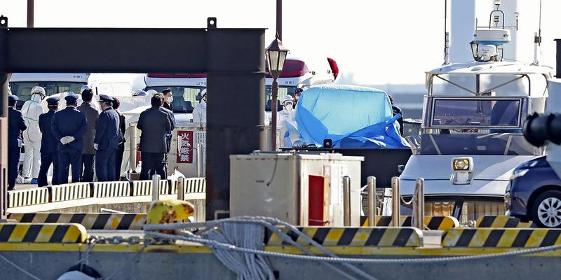 File photo of virus-hit Diamond Princess  cruise ship docked in Yokohama port.