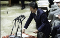 Shinzo Abe, Japan's prime minister, speaks in the lower house of parliament in Tokyo on Feb. 26, 2020. MUST CREDIT: Bloomberg photo by Kiyoshi Ota.