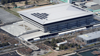 The Tokyo Aquatics Centre is seen from a Yomiuri helicopter on Feb. 28, 2020. MUST CREDIT: Japan News-Yomiuri