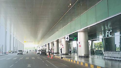 Yangon International Airport see low visitors.