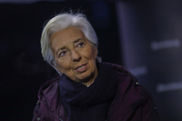 Christine Lagarde, president of the European Central Bank. speaks during a Bloomberg Television interview on the closing day of the World Economic Forum (WEF) in Davos, Switzerland, on Jan. 24, 2020. MUST CREDIT: Bloomberg photo by Simon Dawson.