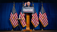 Sen. Bernie Sanders, I-Vt., addresses the media at Hotel Vermont during a press conference on March 11, 2020 in Burlington, Vermont. MUST CREDIT: Washington Post photo by Salwan Georges