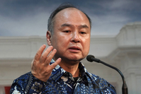 Masayoshi Son, chairman and chief executive officer of SoftBank Group, in Jakarta, Indonesia, on Feb. 28, 2020. MUST CREDIT: Bloomberg photo by Dimas Ardian.