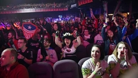 Overwatch League fans cheer for their favorite teams at The Anthem in Washington, D.C., on Feb. 22, 2020. They'll have to watch the upcoming matches online. PHOTO CREDIT: Washington Post photo by Marvin Joseph
