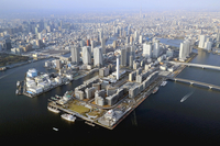 The Olympic Village in Tokyo is seen on March 23, 2020. MUST CREDIT: Japan News-Yomiuri