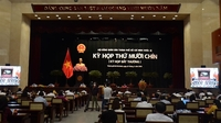 Delegates at an extraordinary meeting held on Friday by the HCM City People's Council. — VNA/VNS Photo Xuân Khu