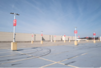 An empty parking lot is seen adjacent to the Westfield Mall in Annapolis, Md., on March 18. MUST CREDIT: Washington Post photo by Michael Robinson Chavez