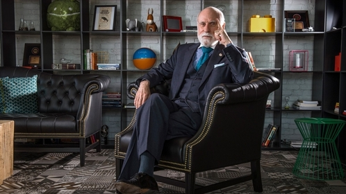 Internet pioneer Vinton Cerf in May 2015 at Google's offices in Washington, D.C. MUST CREDIT: Washington Post photo by Bill O'Leary