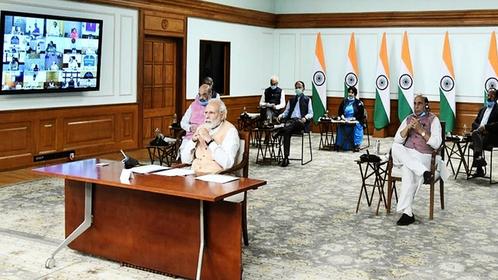 Prime Minister Narendra Modi addressing a virtual conference. (File Photo: narendramodi.in)